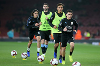Lucas Torreira of Uruguay and Arsenal warms up pre-match during Brazil vs Uruguay, International Friendly Match Football at the Emirates Stadium on 16th November 2018
