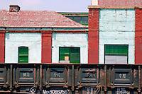 Railway station between Beijing and Datong, China.