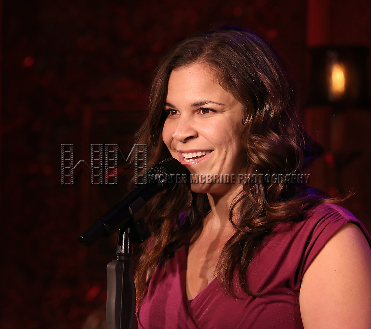Lindsay Mendez perform a press preview of David Zippel's 'Princesses The Musical' at 54 Below on September 23, 2013 in New York City.
