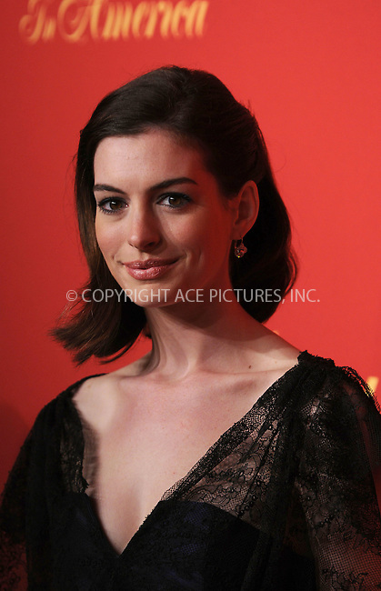 WWW.ACEPIXS.COM . . . . . ....April 30 2009, New York City....Actress Anne Hathaway arriving at the Cartier 100th Anniversary in America Celebration at Cartier Fifth Avenue Mansion on April 30, 2009 in New York City.....Please byline: KRISTIN CALLAHAN - ACEPIXS.COM.. . . . . . ..Ace Pictures, Inc:  ..tel: (212) 243 8787 or (646) 769 0430..e-mail: info@acepixs.com..web: http://www.acepixs.com