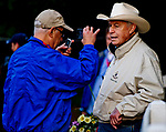 BALTIMORE, MD - MAY 15: Hall of Fame trainer D. Wayne Lukas gets interviewed during Preakness Week at Pimlico Race Course on May 15, 2018 in Baltimore, Maryland (Photo by Scott Serio/Eclipse Sportswire/Getty Images)