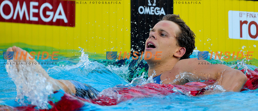 Roma 1st August 2009 - 13th Fina World Championships .From 17th to 2nd August 2009.Men's 50m freestyle.Cesar CIELO FILHO (BRA) Gold Medal.Roma2009.com/InsideFoto/SeaSee.com . .Foto Andrea Staccioli Insidefoto