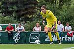 07.07.2019, Parkstadion, Zell am Ziller, AUT, TL Werder Bremen Zell am Ziller / Zillertal Tag 03 - FSP Blitzturnier<br /> <br /> im Bild<br /> Luca Plogmann (Werder Bremen #40), <br /> <br /> im dritten Spiel des Blitzturniers SV Werder Bremen vs Karlsruher SC, <br /> <br /> Foto © nordphoto / Ewert