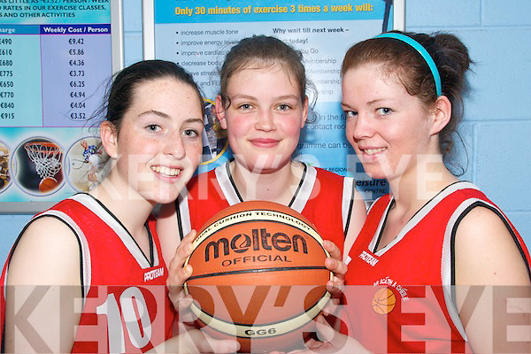 WINNING SMILES:  Basketball players from Pobalscoil Chorcha Dhuibhne who took part in the first ever Munster all-Irish Schools Sports Competitions in Tralee on Thursday last.. L/r. Aisling Ni Shuilleabhain, Sarah Breathnach and Siobhan Ni Shuilleabhain.   Copyright Kerry's Eye 2008