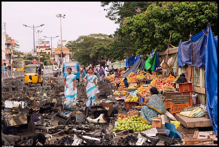 Maraimalai Adigal Salai in Pondicherry. South India.