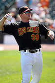September 2 2008:  Bobby Kielty (39) of the Rochester Red Wings, Class-AAA affiliate of the Minnesota Twins, during a game at Frontier Field in Rochester, NY.  Photo by:  Mike Janes/Four Seam Images