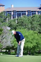 Graeme McDowell (NIR) watches his putt on 10 during round 4 of the Valero Texas Open, AT&amp;T Oaks Course, TPC San Antonio, San Antonio, Texas, USA. 4/23/2017.<br /> Picture: Golffile | Ken Murray<br /> <br /> <br /> All photo usage must carry mandatory copyright credit (&copy; Golffile | Ken Murray)