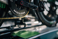 golden chain on Mark Cavendish' (GBR/Dimension Data) bike<br /> <br /> Stage 1: Noirmoutier-en-l'&Icirc;le &gt; Fontenay-le-Comte (189km)<br /> <br /> Le Grand D&eacute;part 2018<br /> 105th Tour de France 2018<br /> &copy;kramon
