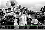 A Zapotec Native nmusicians play traditional dances during a wedding ceremony in Coatecas Altas village, Oaxaca, November 22, 1998. Most of the villagers of Coatecas leave their home to harvest in northern state of Sinaloa.  © Photo by Heriberto Rodriguez