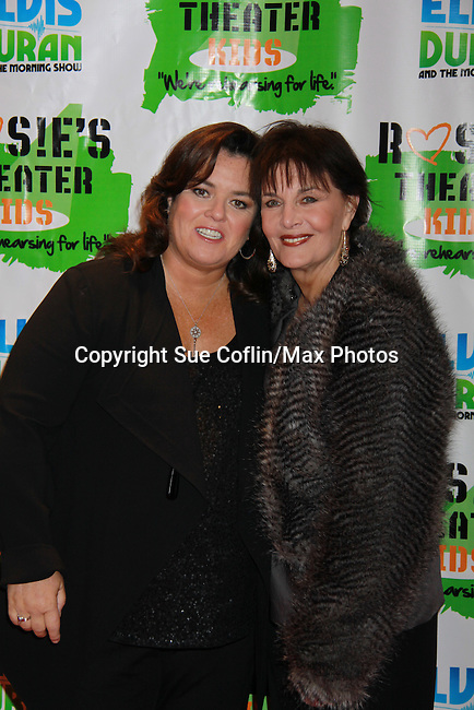 """Linda Dano (Another World & OLTL, AMC, GH)poses with All My Children's Rosie O'Donnell """"Naomi - The Maid"""" hosted Rosie's Building Dreams for Kids Gala benefitting Rosie's Theater Kids on September 19, 2011 at New York Marriott Marquis, New York City, New York. (Photo by Sue Coflin/Max Photos)"""