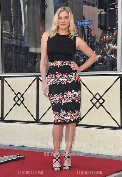 Katee Sakhoff on Hollywood Blvd where Vin Diesel was honored with the 2,504th star on the Hollwood Walk of Fame.<br /> August 26, 2013  Los Angeles, CA<br /> Picture: Paul Smith / Featureflash