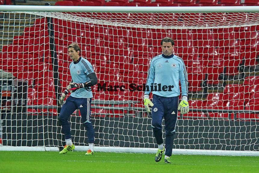 Rene Adler, Roman Weidenfeller (D) - Abschlusstraining der Nationalmannschaft im Wembley Stadium