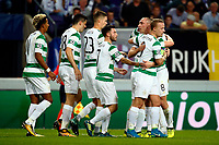 ANDERLECHT, BELGIUM - SEPTEMBER 27 :Leigh Griffiths forward of Celtic FC scores and celebrates   during the Champions League Group B  match between RSC Anderlecht and Celtic FC on September 27, 2017 in Anderlecht, Belgium, 27/09/2017 <br /> Foto Photonews/Panoramic