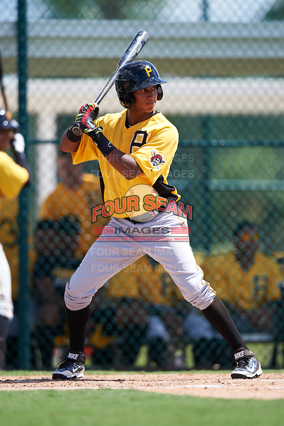 Pittsburgh Pirates Kevin Sanchez (87) during an Instructional League Intrasquad Black & Gold game on September 28, 2016 at Pirate City in Bradenton, Florida.  (Mike Janes/Four Seam Images)