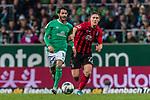 02.11.2019, wohninvest WESERSTADION, Bremen, GER, 1.FBL, Werder Bremen vs SC Freiburg<br /> <br /> DFL REGULATIONS PROHIBIT ANY USE OF PHOTOGRAPHS AS IMAGE SEQUENCES AND/OR QUASI-VIDEO.<br /> <br /> im Bild / picture shows<br /> Leonardo Bittencourt (Werder Bremen #10) im Duell / im Zweikampf mit Roland Sallai (SC Freiburg #22), <br /> <br /> Foto © nordphoto / Ewert