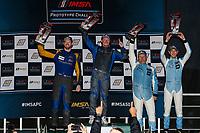 LMP3 Podium, #43 Robillard Racing Norma M30, LMP3: Stevan McAleer, #23 Gilbert/Korthoff MotorSports Norma M30, LMP3: Mike Skeen, #19 Performance Tech Motorsports Ligier JS P3, LMP3: Kyle Masson, Dean Baker