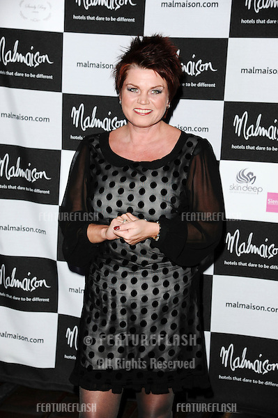 Vicky Entwhistle arrives for the Malmaison Hotel Liverpool re-opening party...23/09/2011  Picture by Steve Vas/Featureflash
