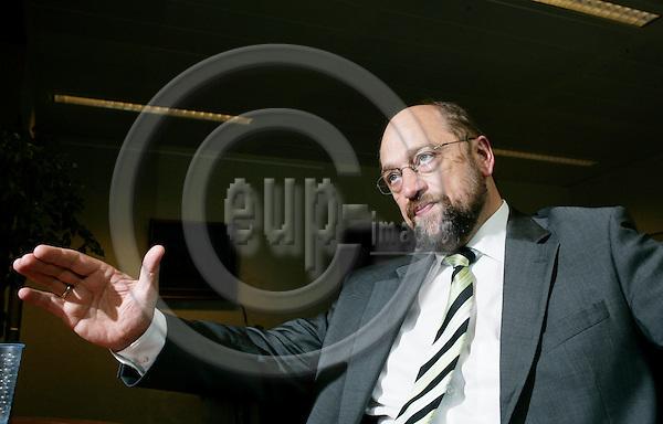 BRUSSELS - BELGIUM - 14 JUNE 2007 -- MEP Martin SCHULZ, the PSE Group. Photo: Erik Luntang/EUP-IMAGES