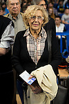 Madrid Mayor Manuela Carmena during Liga Endesa ACB at Barclays Center in Madrid, October 11, 2015.<br /> (ALTERPHOTOS/BorjaB.Hojas)