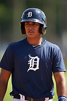 Detroit Tigers David Gonzalez (71) during practice before a minor league Spring Training game against the Houston Astros on March 30, 2016 at Tigertown in Lakeland, Florida.  (Mike Janes/Four Seam Images)