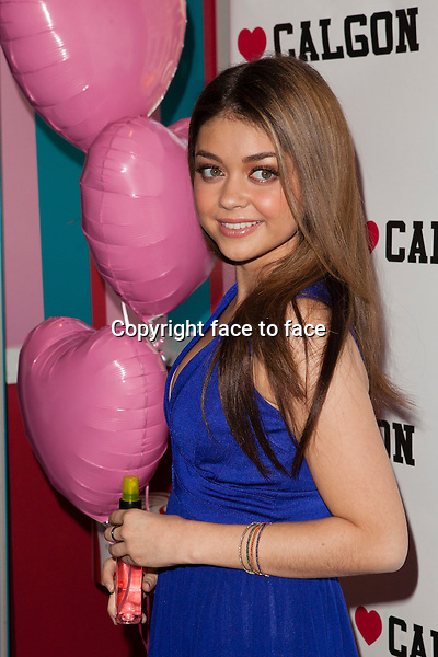 NEW YORK, NY - APRIL 9: Brand Spokesperson, Actress Sarah Hyland at the launch of Heart Calgon's Bold At Heart Campaign held at Dylan's Candy Bar on April 9, 2013 in New York City. ..Credit: MediaPunch/face to face..- Germany, Austria, Switzerland, Eastern Europe, Australia, UK, USA, Taiwan, Singapore, China, Malaysia and Thailand rights only -