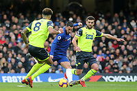 Eden Hazard of Chelsea takes a shot at the Huddersfield Town goal during Chelsea vs Huddersfield Town, Premier League Football at Stamford Bridge on 2nd February 2019