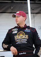 Apr 16, 2009; Avondale, AZ, USA; NASCAR Camping World Series West driver Jonathon Gomez prior to the Jimmie Johnson Foundation 150 at Phoenix International Raceway. Mandatory Credit: Mark J. Rebilas-