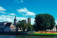 Chalon sur Saone, view from Saone River, France