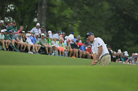 Matt Kucher (USA) on the 18th green during the final round at the The Masters , Augusta National, Augusta, Georgia, USA. 14/04/2019.<br /> Picture Fran Caffrey / Golffile.ie<br /> <br /> All photo usage must carry mandatory copyright credit (© Golffile | Fran Caffrey)