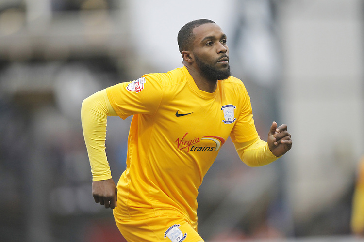 Preston North End's Sylvan Ebanks-Blake<br /> <br /> Photographer Mick Walker/CameraSport<br /> <br /> Football - The Football League Sky Bet League One - Oldham Athletic v Preston North End - Saturday 28th February 2015 - SportsDirect.com Park - Oldham<br /> <br /> &copy; CameraSport - 43 Linden Ave. Countesthorpe. Leicester. England. LE8 5PG - Tel: +44 (0) 116 277 4147 - admin@camerasport.com - www.camerasport.com