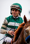 JUNE 06:  Joel Rosario after winning The True North Stakes  at Belmont Park in Elmont, New York on June 06, 2019. Evers/Eclipse Sportswire/CSM