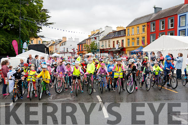 Start of the Childrens Cycle in the Ring of Beara cycle in Kenmare on Saturday.