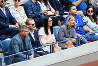 Paul Bettany and Jennifer Connelly watch the final between Rafael Nadal of Spain and Daniil Medvedev of Russia at Arthur Ashe Stadium at the USTA Billie Jean King National Tennis Center on September 08, 2019 in New York City. <br /> CAP/EL<br /> ©Elena Leoni/Capital Pictures