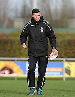 20151128 - PITTEM , BELGIUM : Melsele coach Karim Didi pictured during a soccer match between the women teams of DVK Egem Ladies and KVK Svelta Melsele  , during the eleventh matchday in the Second League - Tweede Nationale season, Saturday 28 November 2015 . PHOTO DAVID CATRY