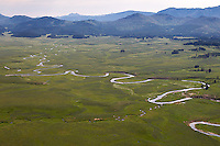 Yellowstone's Pelican Valley, photographed during an aerial shoot of the park.