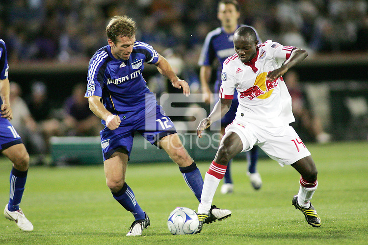 Kansas City Wizards defeated New York Red Bulls 1-0 at Community America Ballpark, Kansas City, Kansas, on April 23 2009.
