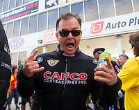 May 17, 2015; Commerce, GA, USA; NHRA top fuel driver Steve Torrence during the Southern Nationals at Atlanta Dragway. Mandatory Credit: Mark J. Rebilas-USA TODAY Sports