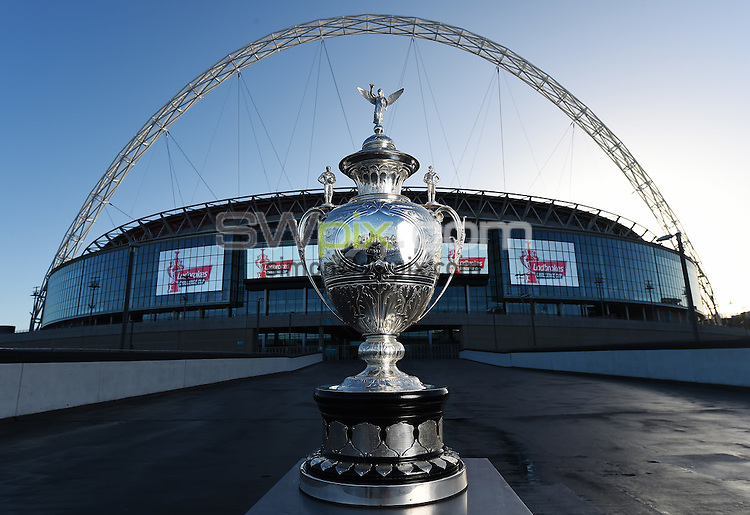 Picture by Alex Broadway/SWpix.com - 08/01/2015 - Rugby League - Ladbrokes Challenge Cup Sponsorship Announcement and First Round draw - Wembley Stadium, London, England - The Ladbrokes Challenge Cup Trophy.