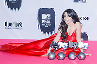 BILBAO, SPAIN-November 05: Camila Cabello in the press room during the EMA 2018 at BEC (Bilbao Exhibition Center) in Bilbao, Spain on the 4 of November of 2018 November05, 2018.  ***NO SPAIN***<br /> CAP/MPI/RJO<br /> &copy;RJO/MPI/Capital Pictures
