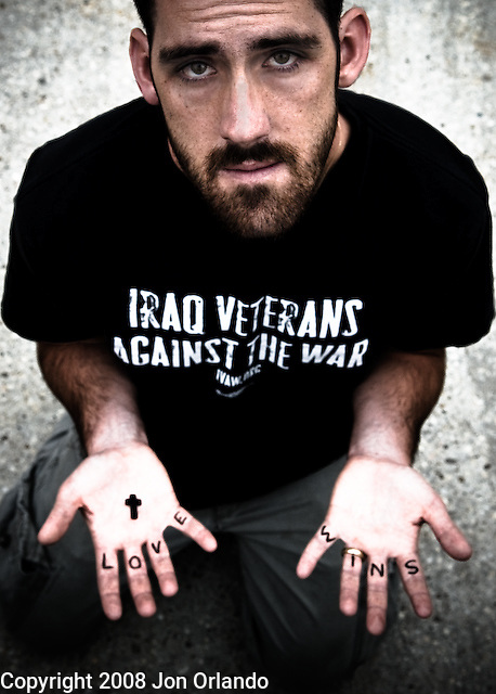 Logan Laituri filed for concientious objector status on religious grounds after serving one tour in Iraq with the 25th Infantry Division. This is from a portrait series I am doing on Iraq War veterans who are resisting the war.