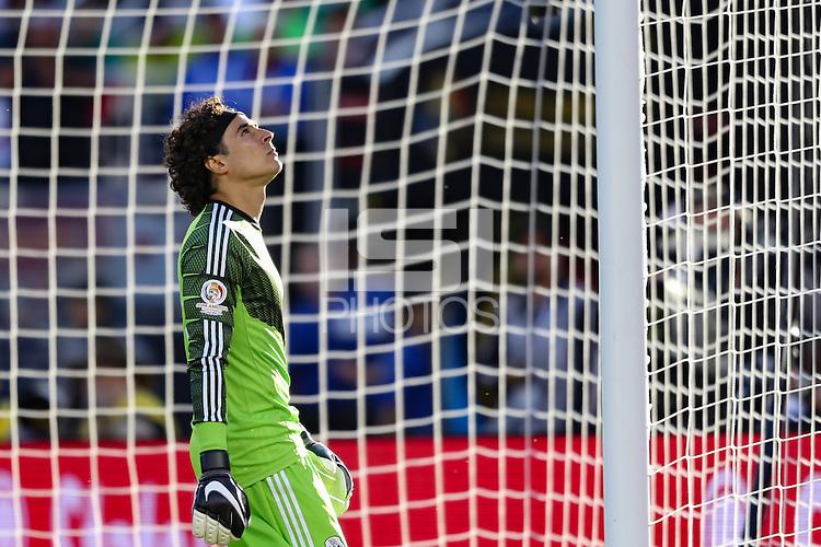 Santa Clara, CA - Saturday June 18, 2016: Guillermo Ochoa during a Copa America Centenario quarterfinal match between Mexico (MEX) and Chile (CHI) at Levi's Stadium.