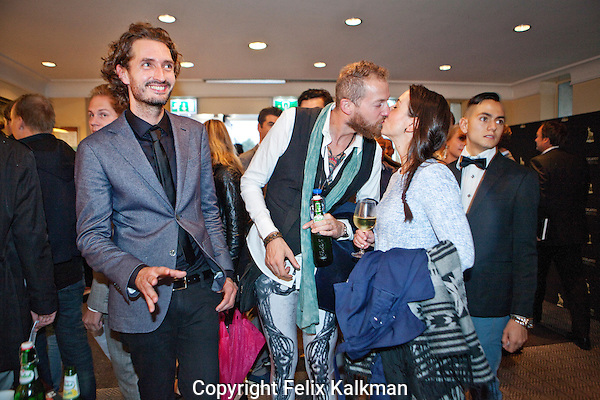 Utrecht, 29 september 2014<br /> Nederlands FIlm Festival<br /> Premiere 30 Milligram van Melvin Simons (links)<br /> Wolff Ciy bioscoop<br /> Foto Felix Kalkman