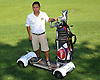 Hampton Hills Golf &amp; Country Club staff member Luis Solorzano, 19, poses for a portrait on a Golfboard at the course on Wednesday, July 22, 2015.<br /> <br /> James Escher