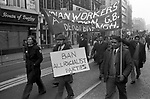 Racism 1970s UK. Asian community march through London to Ban All Racialists Parties, End All Immigration Controls, Stop the Racist Murders. 1976