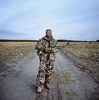 Web Editor for Ducks Unlimited Chris Jennings (cq) during a hunt near Grand Island, Nebraska, Friday, December 2, 2011. ..Photo by Matt Nager
