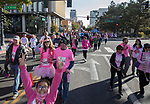 Participants start on first street during the Susan G. Koman Race for the Cure in Reno, Nevada on Sunday, October 15, 2017.