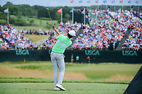 Jamie Lovemark (USA) watches his tee shot on 9 during Saturday's round 3 of the 117th U.S. Open, at Erin Hills, Erin, Wisconsin. 6/17/2017.<br /> Picture: Golffile | Ken Murray<br /> <br /> <br /> All photo usage must carry mandatory copyright credit (&copy; Golffile | Ken Murray)