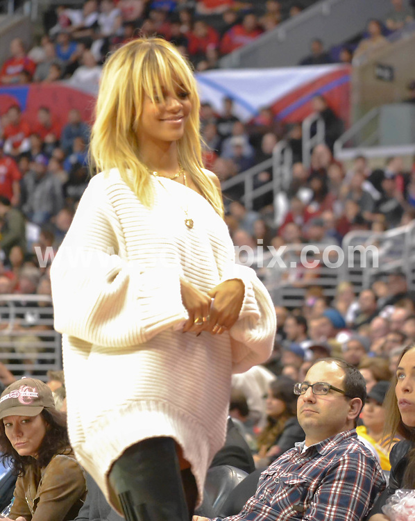 **ALL ROUND PICTURES FROM SOLARPIX.COM**                                             **SYNDICATION RIGHTS FOR UK, AUSTRALIA, DENMARK, PORTUGAL, S. AFRICA, SPAIN & DUBAI (U.A.E) & ASIA (EXCLUDING JAPAN) ONLY**                                                                                  Caption:  Rihanna at  The  2012 NBA watching the Denver Nuggets at Los Angeles Clippers at the Staples Center in Los Angeles, CA USA                                            This pic: Rihanna                                                                                              JOB REF: 14416       PHZ       DATE: 02.02.2012                                                           **MUST CREDIT SOLARPIX.COM OR DOUBLE FEE WILL BE CHARGED**                                                                      **MUST AGREE FEE BEFORE ONLINE USAGE**                               **CALL US ON: +34 952 811 768 or LOW RATE FROM UK 0844 617 7637**