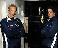 PUTNEY, LONDON, ENGLAND, 06.03.2006, Oxford's Canadian Internationals, left Jake Wetzel, and right 2006 Oxford Varsity President Barney Williams, at the 2006 Presidents Challenge and Boat Race Crew announcement, held at the Winchester Club.   © Peter Spurrier/Intersport-images.com[Mandatory Credit Peter Spurrier/ Intersport Images] Varsity:Boat Race