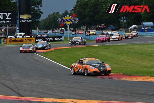 IMSA Continental Tire SportsCar Challenge<br /> Continental Tire 120 at The Glen<br /> Watkins Glen International, Watkins Glen, NY USA<br /> Saturday 1 July 2017<br /> 56, Porsche, Porsche Cayman, ST, Jeff Mosing, Eric Foss<br /> World Copyright: Richard Dole/LAT Images<br /> ref: Digital Image RD_WGI_17_265